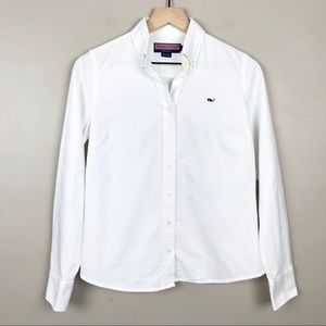 Vineyard Vines White Size 4 Button Down Shirt